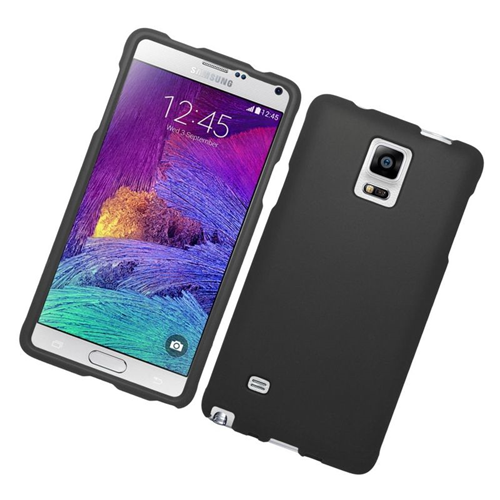 Insten Rubberized Hard Snap-in Case Cover Compatible With Samsung Galaxy Note 4, Black