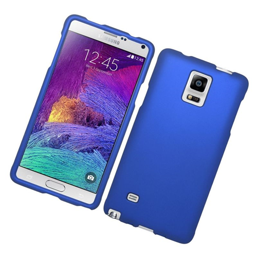 Insten Rubberized Hard Snap-in Case Cover Compatible With Samsung Galaxy Note 4, Blue