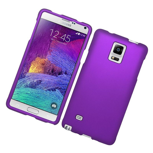 Insten Rubberized Hard Snap-in Case Cover Compatible With Samsung Galaxy Note 4, Purple