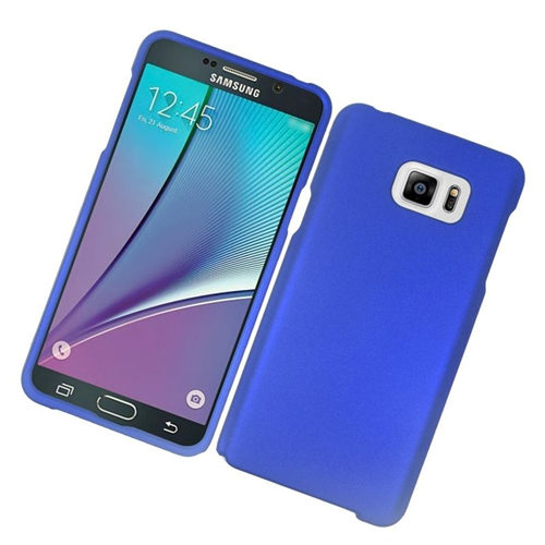 Insten Rubberized Hard Snap-in Case Cover Compatible With Samsung Galaxy Note 5, Blue