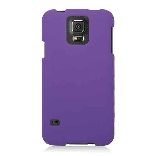 Insten Rubberized Hard Snap-in Case Cover Compatible With Samsung Galaxy S5 SM-G900, Purple
