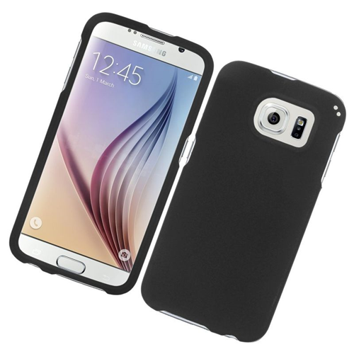 Insten Rubberized Hard Snap-in Case Cover Compatible With Samsung Galaxy S6 SM-G920, Black