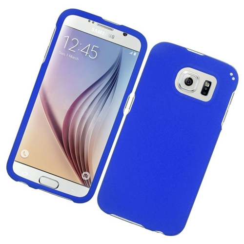 Insten Rubberized Hard Snap-in Case Cover Compatible With Samsung Galaxy S6 SM-G920, Blue