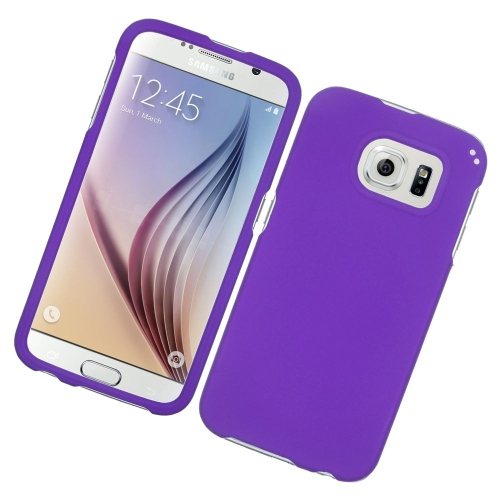 Insten Rubberized Hard Snap-in Case Cover Compatible With Samsung Galaxy S6 SM-G920, Purple