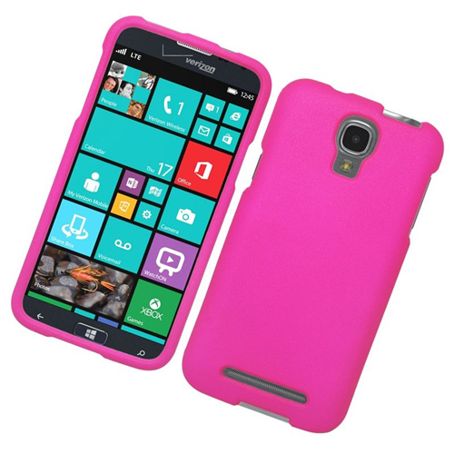 Insten Rubberized Hard Snap-in Case Cover Compatible With Samsung ATIV SE W750V Huron, Hot Pink