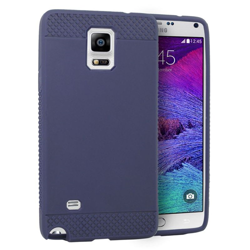Insten TPU Rubber Candy Skin Case Cover Compatible With Samsung Galaxy Note 4, Blue