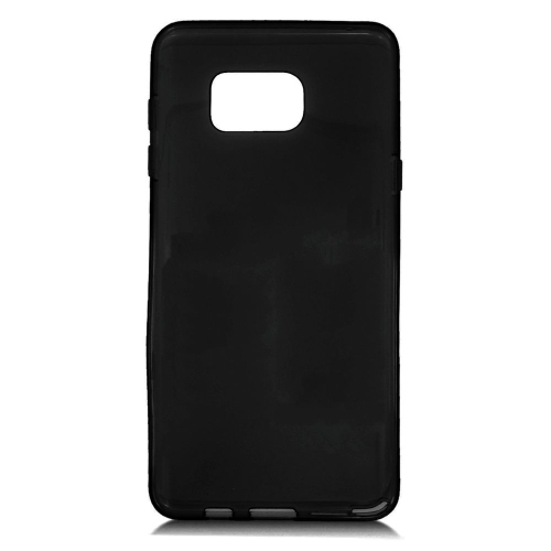 Insten TPU Rubber Candy Skin Case Cover Compatible With Samsung Galaxy Note 5, Black