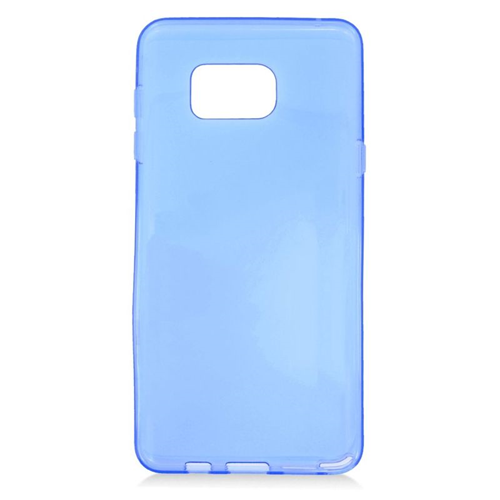 Insten TPU Rubber Candy Skin Case Cover Compatible With Samsung Galaxy Note 5, Blue