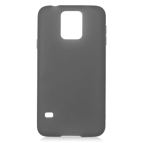 Insten TPU Rubber Candy Skin Case Cover Compatible With Samsung Galaxy S5 SM-G900, Black