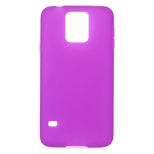 Insten TPU Rubber Candy Skin Case Cover Compatible With Samsung Galaxy S5 SM-G900, Purple