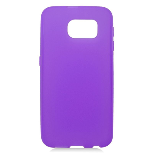 Insten TPU Rubber Candy Skin Case Cover Compatible With Samsung Galaxy S6 SM-G920, Purple