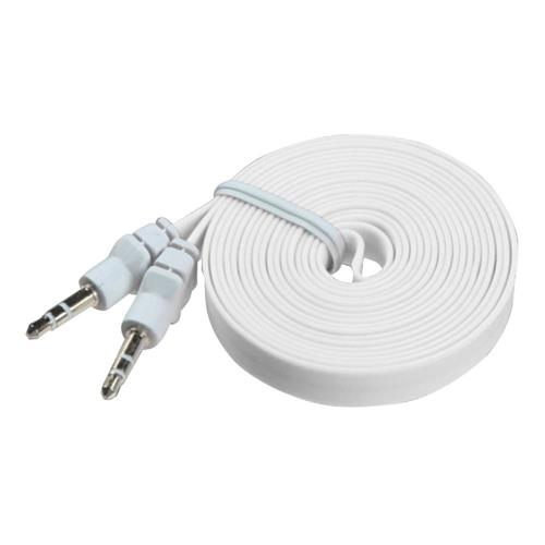 Insten White Noodle Audio Cable with 3.5 to 3.5 Plug (L=6 FT)