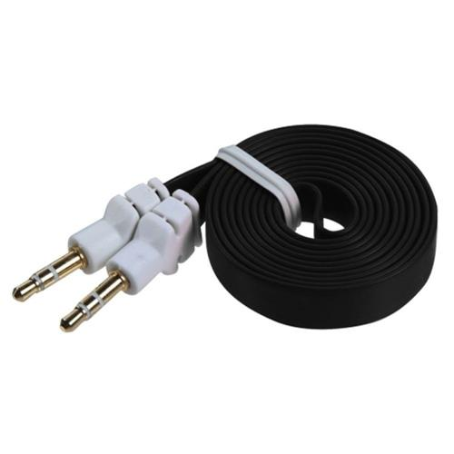 Insten Black Noodle Audio Cable with 3.5mm to 3.5mm Plug
