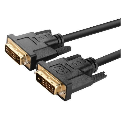 Insten Gold-plated DVI-D Digital / Digital Dual Link Cable 9.9Gbps 24+1 pin M / M, 6FT / 1.8M, Black