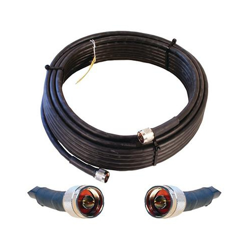 Cable 50' Black LMR400 eqiv. ultra low loss cable (N male - N male ends)