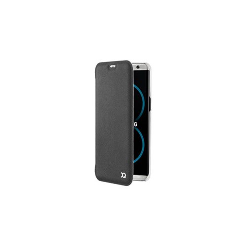 Samsung Galaxy S8 Plus Xqisit Black Adour Flap Cover