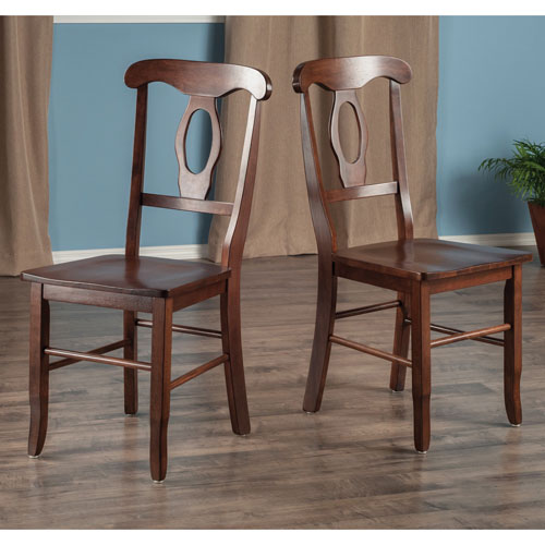 Awesome Renaissance Solid Wood Dining Chair Set Of 2 Walnut Machost Co Dining Chair Design Ideas Machostcouk