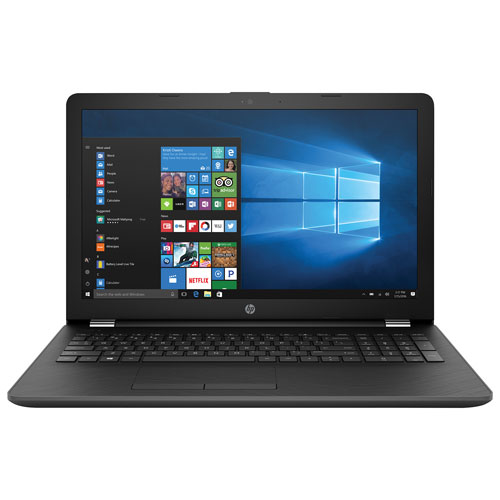 Portable de 15,6 po de HP - Gris (E2-9000e d'AMD/DD 500 Go/RAM 4 Go/Windows 10 Famille)
