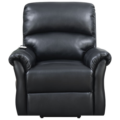 Reliant Contemporary Bonded Leather Power Lift Chair - Black