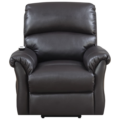 Reliant Contemporary Bonded Leather Power Lift Chair - Brown