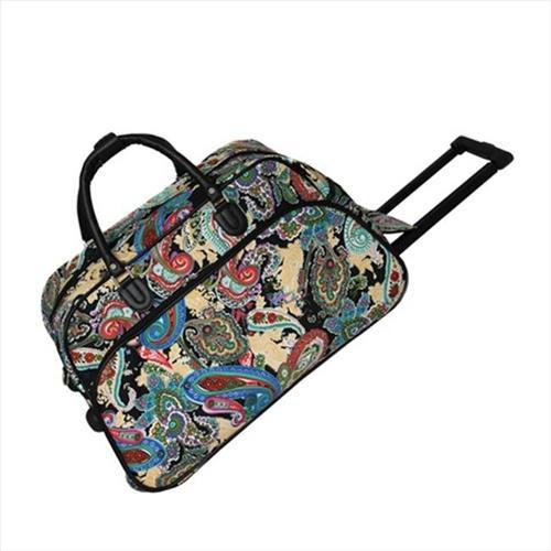 All-Seasons 8112022-181 21 in. Designer Prints Carry-On Rolling Duffel Bag  Multi Paisley   Duffle Bags - Best Buy Canada 673285d63d388