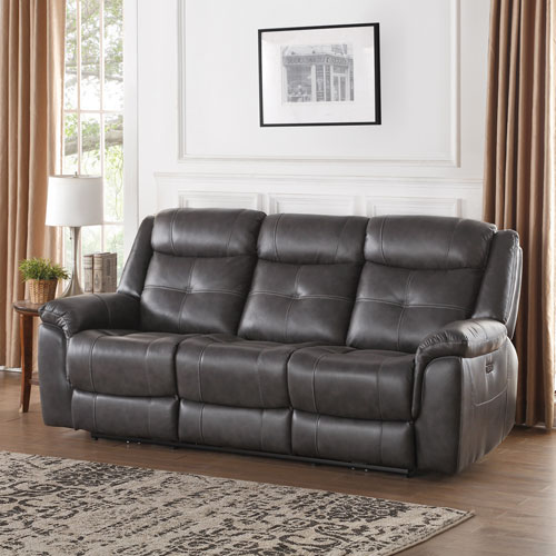 Justin Contemporary Leather Power Recliner Sofa - Charcoal  sc 1 st  Best Buy Canada & Justin Contemporary Leather Power Recliner Sofa - Charcoal : Sofas ... islam-shia.org