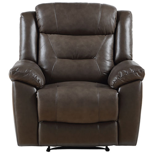 Memphis Contemporary Leather Recliner Chair - Taupe