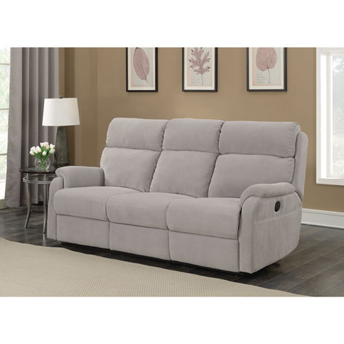Marsellus Suede Power Reclining Sofa Grey Best Buy Canada