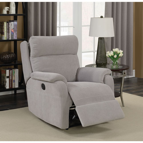 Marsellus Contemporary Power Recliner Chair - Grey