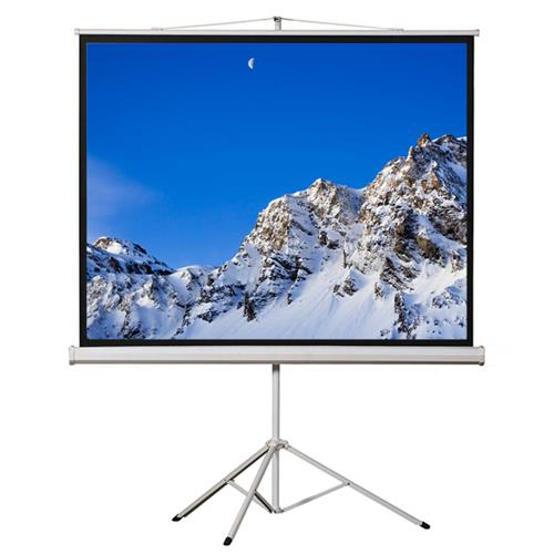 "EluneVision 84""*84"" Portable Tripod Manual Pull-up Screen"