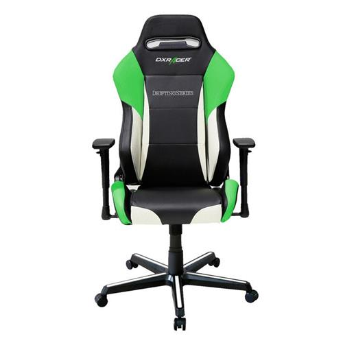 DXRacer Drifting Series OH/DM61/NWE Black, White and Green Gaming Chair