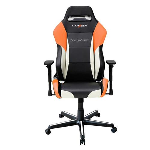 DXRacer Drifting Series OH/DM61/NWO Black, White and Orange Gaming Chair