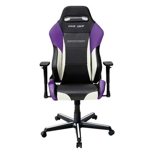 DXRacer Drifting Series OH/DM61/NWV Black, White and Violet Gaming Chair
