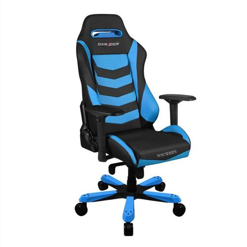 DXRacer Iron Series OH/IS166/NB Black and Blue Gaming Chair