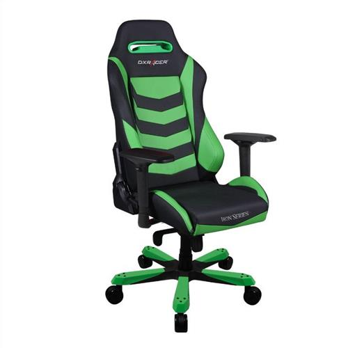 DXRacer Iron Series OH/IS166/NE Black and Green Gaming Chair