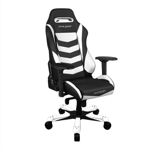 DXRacer Iron Series OH/IS166/NW Black and White Gaming Chair
