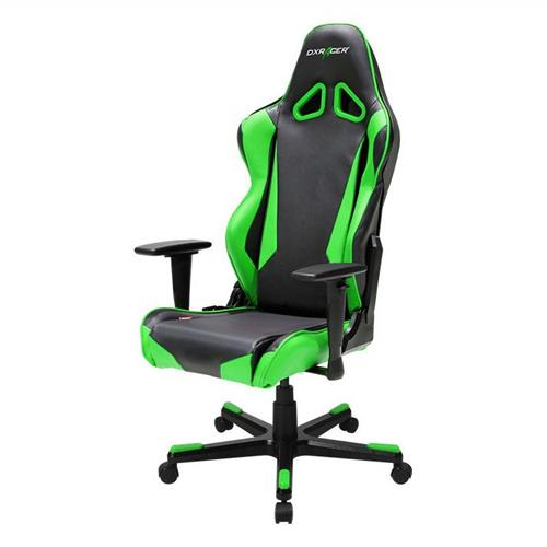 DXRacer Racing Series OH/RB1/NE Black and Green Gaming Chair
