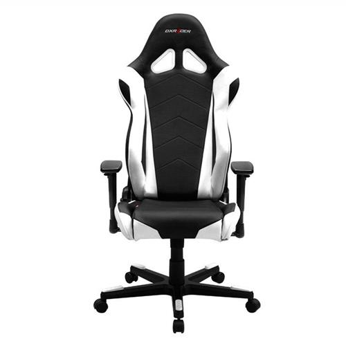 DXRacer Racing Series OH/RE0/NW Black and White Gaming Chair