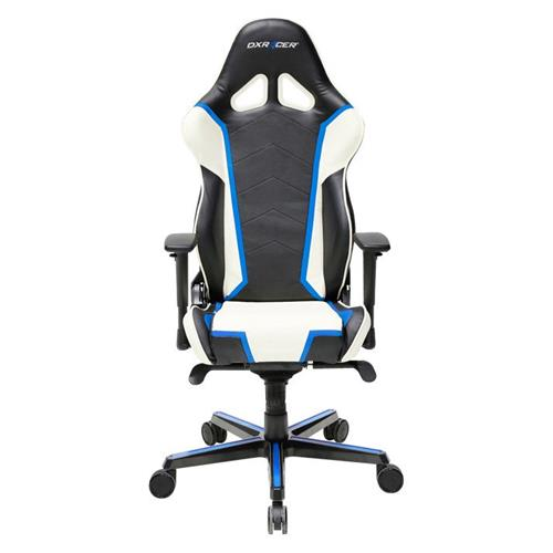 DXRacer Racing Series OH/RH110/NWB Black, White and Blue Gaming Chair