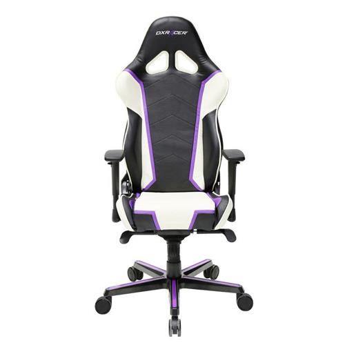 DXRacer Racing Series OH/RH110/NWV Black, White and Violet Gaming Chair