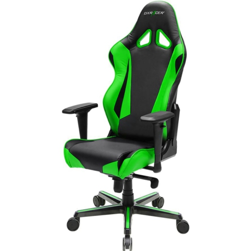 DXRacer Racing Series OH/RV001/NE Black and Green Gaming Chair