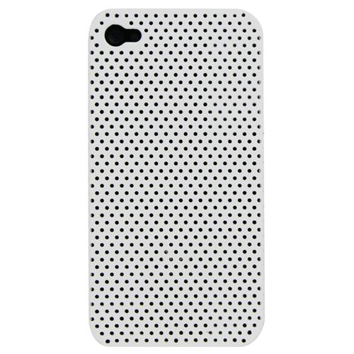 Exian iPhone 4/4S Soft Plastic Case Net Pattern White