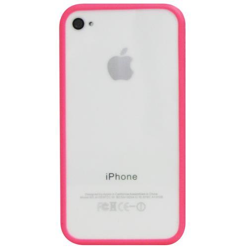 Exian iPhone 4/4S Soft Plastic Bumper Pink