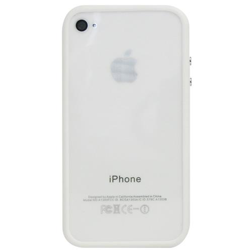 Exian iPhone 4/4S Soft Plastic Bumper White