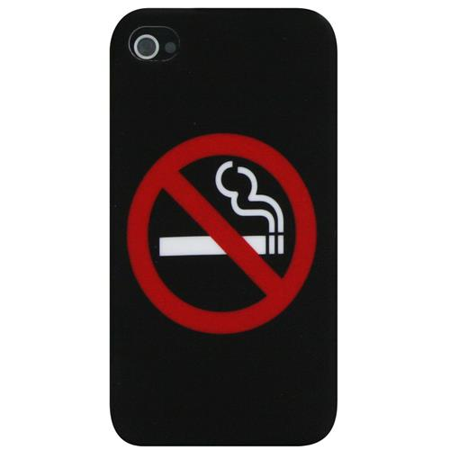 Exian iPhone 4/4S Hard Plastic Case No Smoking Black