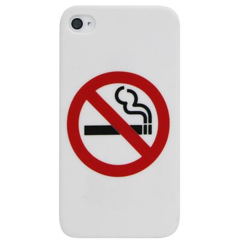 Exian iPhone 4/4S Hard Plastic Case No Smoking White