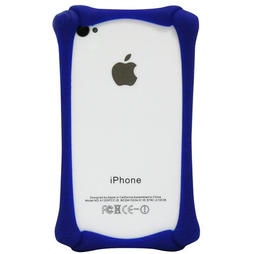 Exian iPhone 4/4S Silicone Bone Shaped Bumper Blue