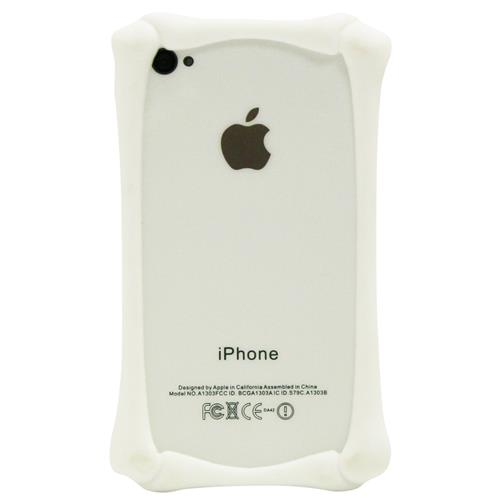 Exian iPhone 4/4S Silicone Bone Shaped Bumper White