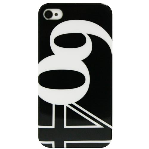 Exian iPhone 4/4S Hard Plastic Case 604 on Black