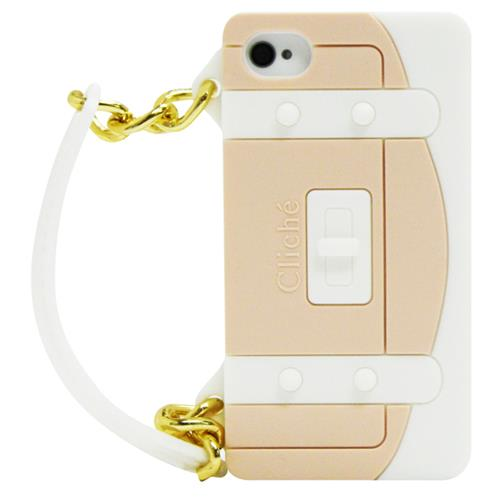 Exian iPhone 4/4S Silicone Case Handbag Shape White